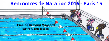 1 re rencontres de natation 2016 pari r ussi neptune for Piscine armand massard aquagym